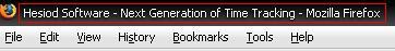 Firefox window title